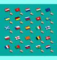 euro flag collection set european national vector image vector image