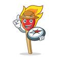 explorer match stick mascot cartoon vector image