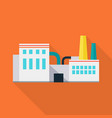 factory in flat design vector image