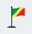 flag of congo-brazzavilleflag stand vector image