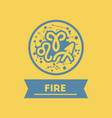 flat icon zodiacal element of fire vector image vector image