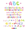 Font letters and numbers vector image