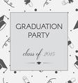 Graduation Invitation vector image