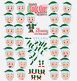 green santa claus twenty eight expressions and vector image vector image