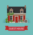 guesthouse accommodation vector image vector image