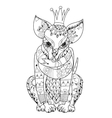 hand drawn doodle outline chihuahua dog boho vector image vector image