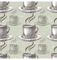 hand drawn tea seamless vector image vector image