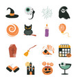 happy halloween trick or treat party celebration vector image vector image