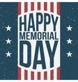 Happy Memorial Day patriotic Background vector image vector image