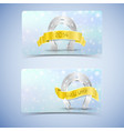 horseshoes banners set vector image