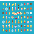 icecream set vector image vector image