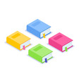 isometric flat book icon multi-colored thick vector image