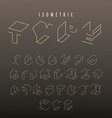 Isometric outline alphabet vector image vector image