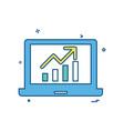 laptop graph icon design vector image vector image