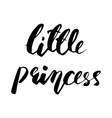little princess lettering design vector image