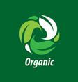 logo organic vector image vector image