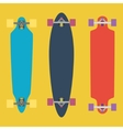 Longboard flat vector image