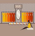modern loft interior showroom fashion vector image vector image