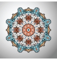 Ornamental round colorful geometric pattern in vector image vector image