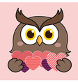 Owl Heart vector image
