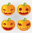 Pumpkins Halloween Design Set Emotion vector image vector image