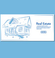 real estate banner in hand drawn style vector image vector image