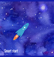 rocket launch background vector image vector image