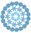 round blue ornament vector image vector image