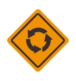roundabout signal traffic road design vector image