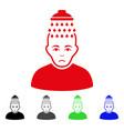 sad head shower icon vector image vector image