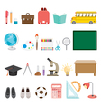 School Supplies Icons Set vector image vector image