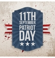 September 11th Patriot Day paper Tag vector image vector image