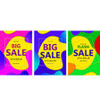 set bright abstract banner sales with coloured vector image