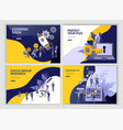 set landing page template people businesss vector image vector image