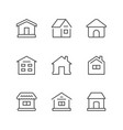 set line icons of houses vector image vector image