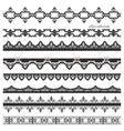 Set of black straight lace Lines Borders vector image vector image