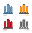 set of commercial real estate vector image vector image