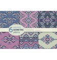 set six ethnic seamless patterns geometric vector image