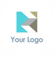 shape 3d square logo vector image vector image