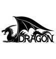 sign of a black dragon vector image vector image