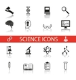 Simple Science and Research Icons Symbols Set vector image vector image