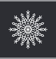 snowflake crystal on black vector image