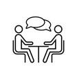 speaking people icon talk logo design vector image
