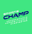 sport style font design vector image vector image