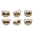 square skull icons vector image vector image