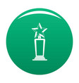 star award icon green vector image