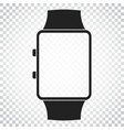 watch icon clock flat simple business concept vector image