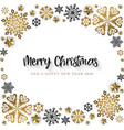 white merry christmas banner background vector image vector image