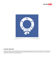 wreath icon - blue photo frame vector image
