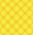 yellow lemon seamless pattern vector image vector image